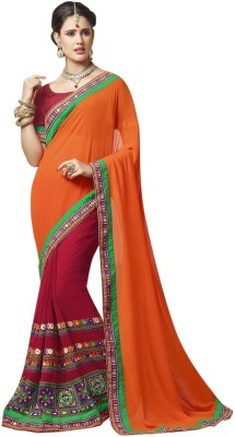 Indian Pahnaav Embriodered Bollywood Pure Georgette Sari