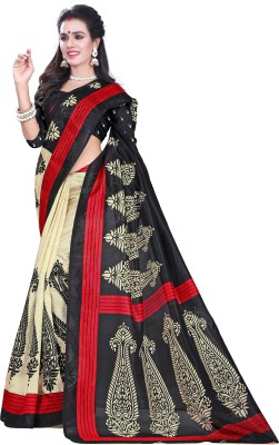 Sonakshi Sarees Striped Mysore Poly Silk Sari