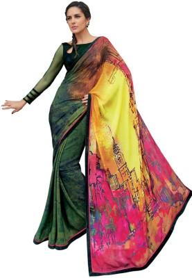 Heart & Soul Hand Painted Bollywood Silk Sari