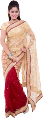 Wuba Self Design Fashion Handloom Net Sari