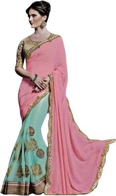 Greenvilla Designs Embriodered Fashion Chiffon Sari