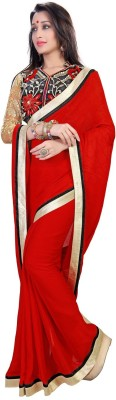 New Look Fashion Plain, Embriodered Fashion Jacquard, Georgette Sari
