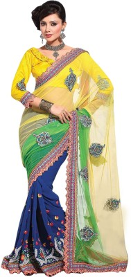 Suchi Fashion Embriodered Fashion Net, Georgette Sari