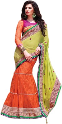 Allol Embriodered Bollywood Viscose, Net Sari