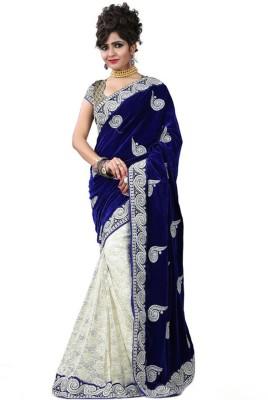 ARAJA Self Design Fashion Velvet Sari