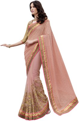 Resham Fabrics Embriodered Fashion Net, Jacquard Sari