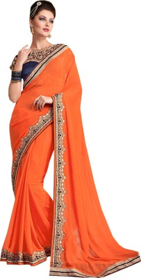 ethniccrush Embriodered Fashion Georgette Sari