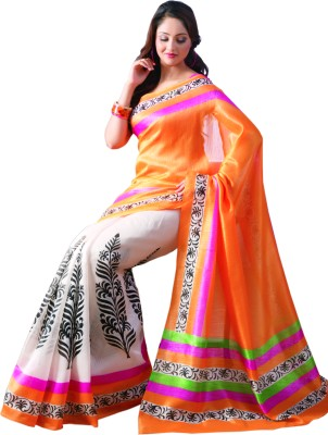 Sunaina Printed Cotton Saree(Multicolor) at flipkart