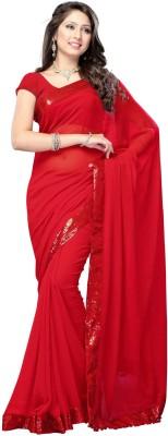 Glamour Tex Plain Bollywood Chiffon Sari