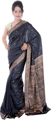 RJsaree Embellished Banarasi Handloom Banarasi Silk Sari