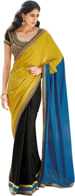 Yaari Fashion Plain Daily Wear Chiffon Sari
