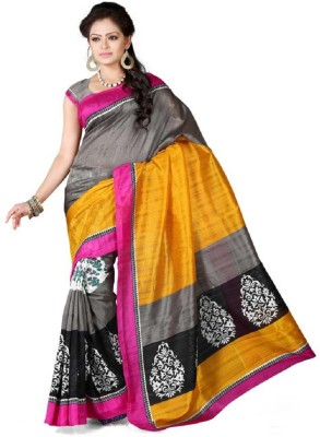 Snreks Collection Printed Fashion Art Silk Sari
