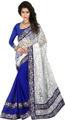 Fancy Sarees Embriodered Bollywood Georgette Sari