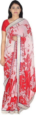 Saree Street Floral Print Fashion Georgette Sari