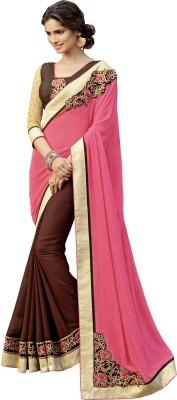 Lovelylook Embriodered Daily Wear Georgette, Chiffon Sari