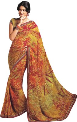 Laxmipati Printed Chanderi Pure Georgette Sari