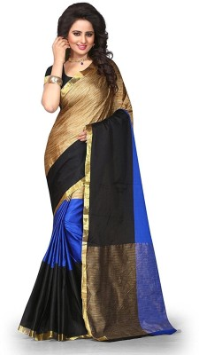 FastColors Printed Bollywood Silk Cotton Blend Saree(Multicolor) at flipkart