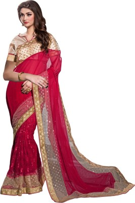 Diva Divine Embriodered Fashion Georgette, Net Sari