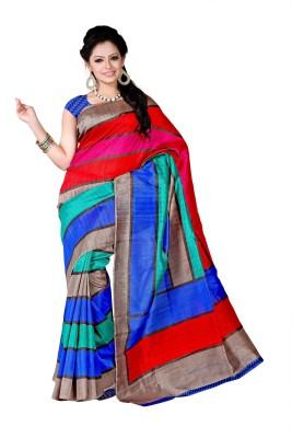 Shiv Silk Mills Printed Fashion Art Silk Sari