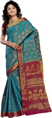 Alankrita Self Design Kanjivaram Art Silk, Jacquard Sari