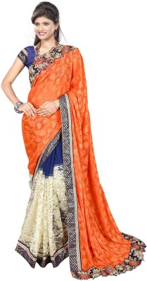 Jasleen Fashion Embellished, Embriodered Fashion Georgette, Art Silk, Jacquard, Net, Brocade, Lace Sari