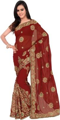Chandra Silk Mills Embriodered Lehenga Saree Georgette Sari