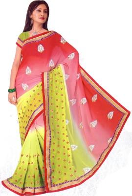 Aburadha Saree Embriodered Ganga Jamuna Handloom Pure Chiffon Sari