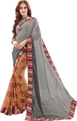Admyrin Printed Fashion Crepe, Georgette, Jacquard Sari