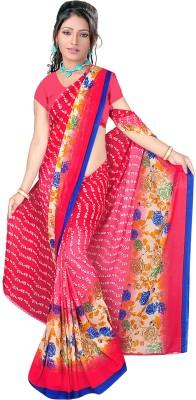 Sonia fashion Floral Print Bollywood Art Silk Sari