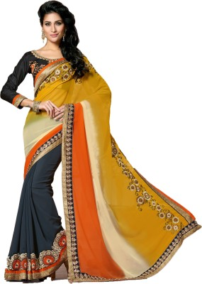 Aasvaa Embriodered Fashion Pure Georgette Sari