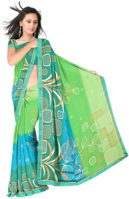 Madhuri Digital Prints Daily Wear Crepe Sari