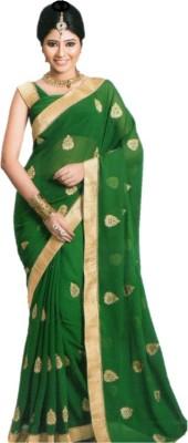 PHIROJA Solid Paithani Poly Silk Sari