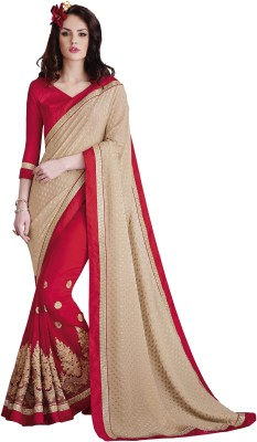 Vishal Prints Self Design Bollywood Georgette Sari