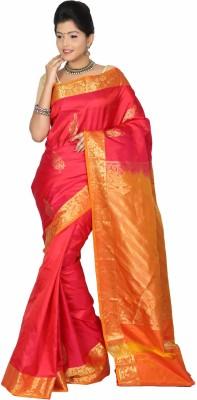 Swanky Silk Yards Self Design Dharmavaram Handloom Silk Sari