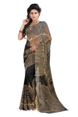 SareeBazaar Printed, Striped Daily Wear Georgette Sari
