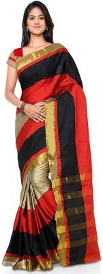 Aruna Sarees Self Design Chanderi Poly Silk Sari(Multicolor)
