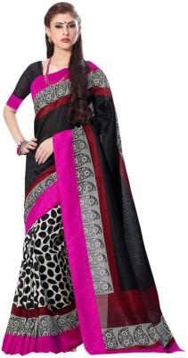 Textilebaba Printed Bhagalpuri Art Silk Sari