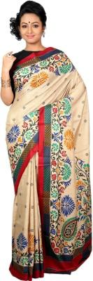 Womilo Self Design Kosa Art Silk Sari