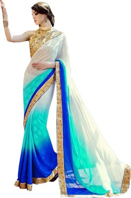 Greenvilla Designs Plain Fashion Jacquard Sari