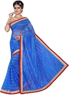 Shonaya Plain Fashion Brasso Saree(Dark Blue) at flipkart