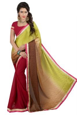 Jagdamba Creation Woven Fashion Viscose Sari