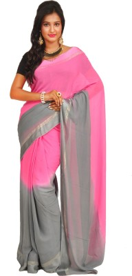Anamika Collection Solid Fashion Handloom Synthetic Georgette Sari