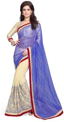 Sourbh Sarees Embriodered Fashion Net, Georgette Sari