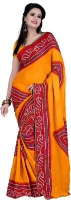 Sangeetasarees Self Design Daily Wear Handloom Crepe Sari