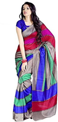 The Designer House Printed, Self Design Bhagalpuri Printed Silk Sari