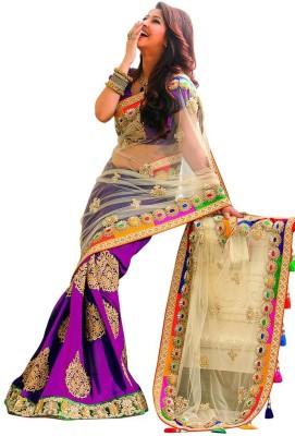 Kamelasaree Embriodered Fashion Georgette, Net Sari