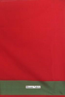 SSPK Woven Banarasi Handloom Silk Cotton Blend Sari