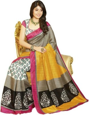 Radhe Shree Saree Self Design Hand Batik Handloom Damask Sari