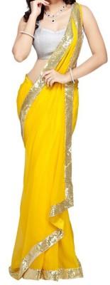 Manshvi Fashion Self Design Fashion Georgette Sari