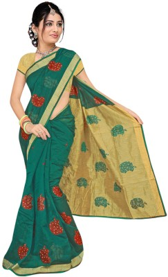 Anjani Creation Self Design Fashion Cotton Sari